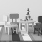 Lekebord og stoler